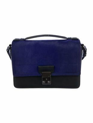 3.1 Phillip Lim Pony Hair & Leather Handle Bag Blue