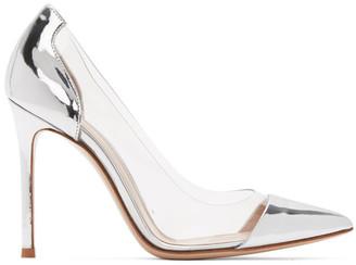 Gianvito Rossi Silver Plexi Vernice 105 Heels