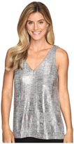 Lilla P Foil V-Neck Tank Top