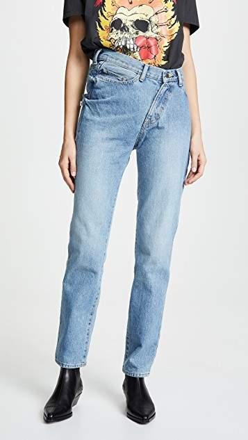 Facetasm Diagonal Hem Jeans