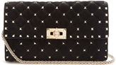 Valentino Rockstud Spike quilted-suede clutch