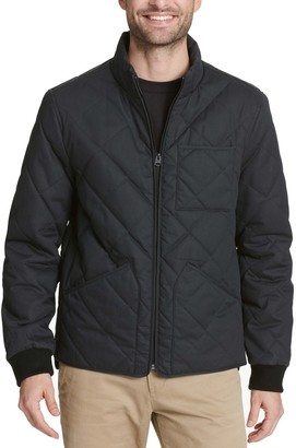 Dockers Men's Diamond Quilted Stand-Collar Bomber Jacket