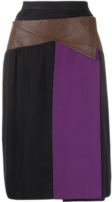 Gianfranco Ferré Pre Owned Colour-Block Midi Skirt