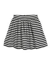 Kate Spade Coreen Striped A-Line Skirt, Black/Cream, Size 7-14