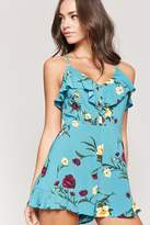 Forever 21 Floral Flounce Cami Romper