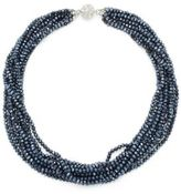 Saks Fifth Avenue Silvertone Multi-Strand Faceted Bead Necklace