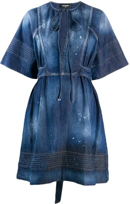 DSQUARED2 Denim Georgette Dress