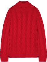 Mansur Gavriel Cable-knit Cashmere Turtleneck Sweater - Red