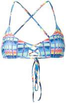 Mara Hoffman basket weave print bikini top - women - Nylon/Spandex/Elastane - S