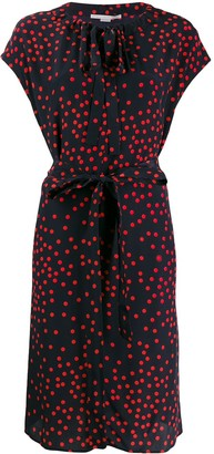 Stella McCartney Polka Dot Belted Dress