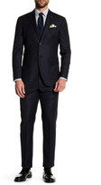 Michael Bastian Black Pinstripe Two Button Notch Lapel Wool Extra-Trim Fit Suit