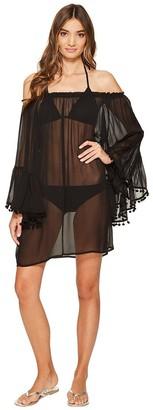 Bleu Rod Beattie Bleu | Rod Beattie Women's Gypset Off The Shoulder Peasant Sleeve Dress Cover-up