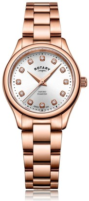 Rotary Watches Rose Gold Oxford Diamonds Ladies