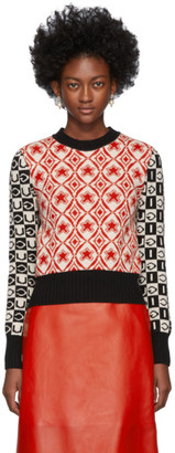 Gucci Red and Black Colorbocked G Sweater