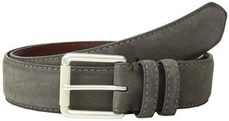 Torino Leather Co. 38 mm Italian Calf Suede (Grey) Men's Belts