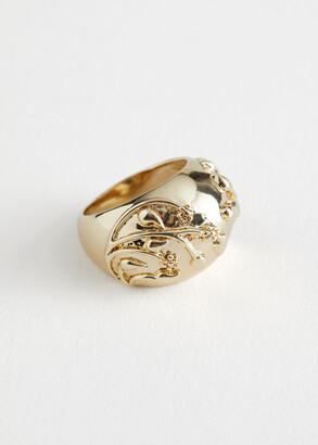 And other stories Embossed Signet Ring