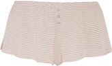 Eberjey Love Letters striped modal-blend jersey pajama shorts