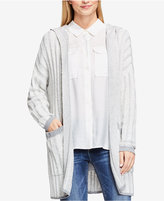 Vince Camuto Hooded Open-Front Cardigan