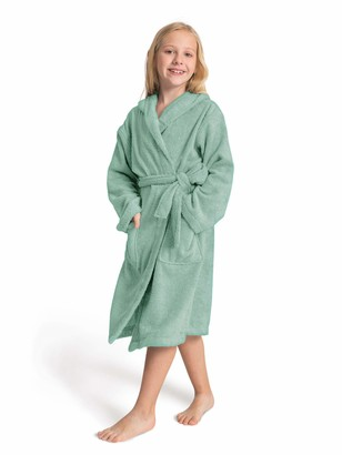 SIORO Hooded Dressing Gown Kids Hooded Terry Towelling Robes for Girls and Boys Hot tub Shower Bath Pool Bathrobe