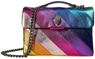 Kurt Geiger Kensington Shoulder Bag (Gold Combo) Handbags