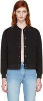 MAISON KITSUNÉ Black Logo Bomber Jacket