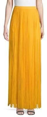 Elie Saab Frayed Maxi Skirt