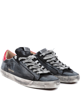GOLDEN GOOSE Mens Red Slate Low Top Sneakers
