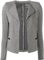 Majestic Filatures houndstooth pattern open cardigan