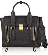 3.1 Phillip Lim The Pashli Medium Textured-leather Trapeze Bag - Black