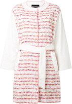 Moschino belted bouclé coat - women - Cotton/Polyamide - 42