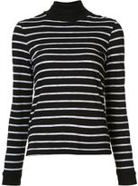 RE/DONE striped roll neck top