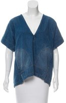 Rachel Comey Denim V-Neck Top