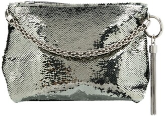 Jimmy Choo Callie sequin-embellished clutch bag
