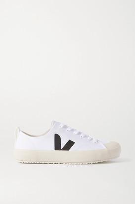 Veja Net Sustain Nova Organic Cotton-canvas Sneakers - White