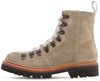 Grenson 35mm Nanette Suede & Shearling Boots