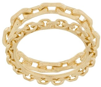 Wouters & Hendrix Chain-Embellished Stacked Ring