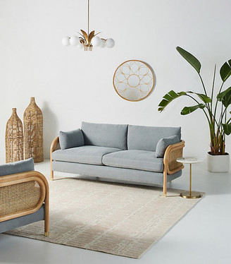 """Anthropologie Heatherfield Two-Cushion Sofa By in Assorted Size 76"""""""