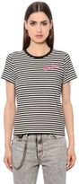 Marc Jacobs Stripes & Leopard Cotton Jersey T-Shirt