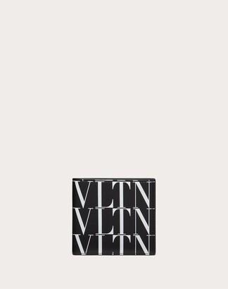 Valentino Uomo Vltn Times Wallet Man Black/white 100% Pelle Bovina - Bos Taurus OneSize