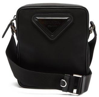 Prada Logo-plaque Nylon Cross-body Bag - Black