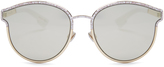 Christian Dior Symmetric mirrored sunglasses