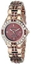 Swarovski Armitron Women's 75/3689WMRG Crystal-Accented Rose Gold-Tone Bracelet Watch
