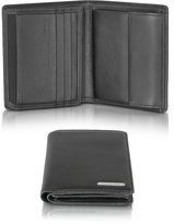 Porsche Design CL 2.0 Black Square Leather Wallet w/Coin Pocket