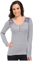 Rock and Roll Cowgirl Long Sleeve Henley 48T5008