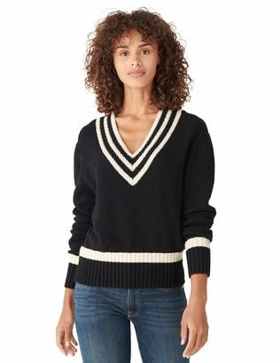 Lucky Brand Women's Long Sleeve V-Neck Cricket Sweater