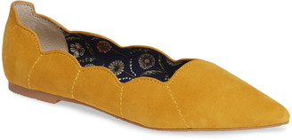 Seychelles Island Scalloped Suede Flat