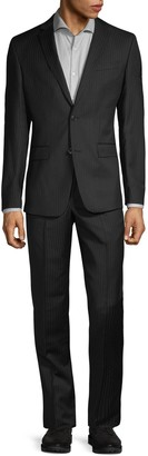 Versace Modern-Fit Solid Wool Suit