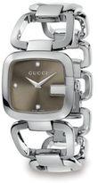 Gucci G Diamond & Stainless Steel Open-Link Bracelet Watch