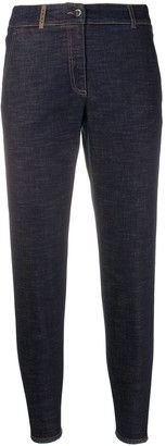 Peserico High Rise Slim-Fit Jeans