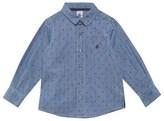 Petit Bateau Denim Anchor Print Shirt